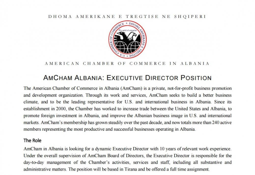 AmCham Executive Director position