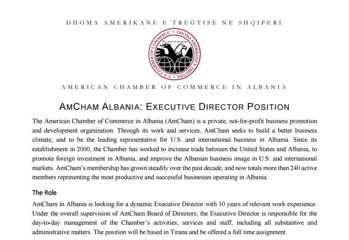 AmCham Executive Director position